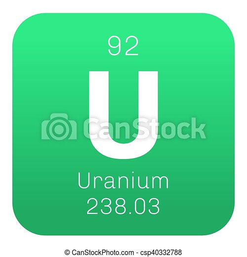 Uranium chemical element uranium is weakly radioactive metal uranium chemical element uranium is weakly radioactive metal colored icon with atomic number and atomic weight chemical element of periodic table urtaz Choice Image