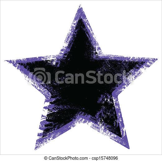 urbain, forme, grunge, étoile - csp15748096