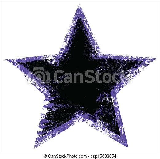 urbain, grunge, -, abîmer, forme, étoile - csp15833054