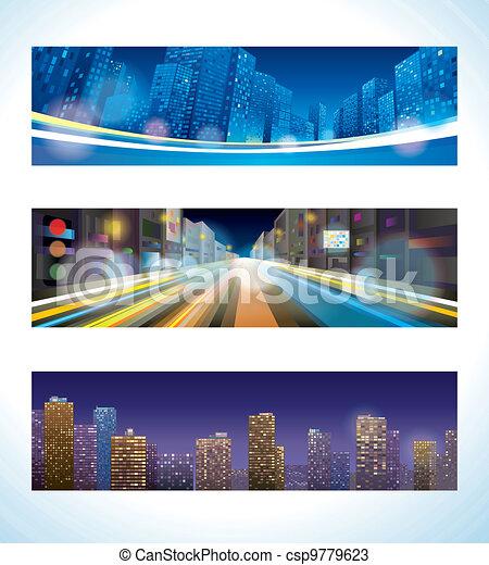 urbain, nuit - csp9779623
