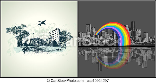 urbain, style, vectors - csp10924297