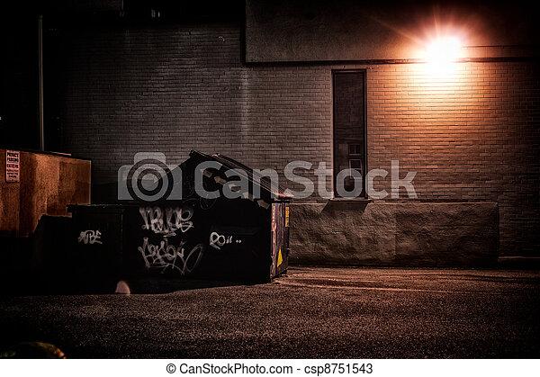 Urban Alley at Night - csp8751543