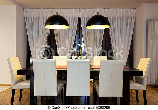 Urban apartment - Table in dining room - csp15390289