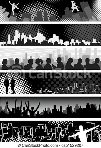 Urban banners - csp1529207
