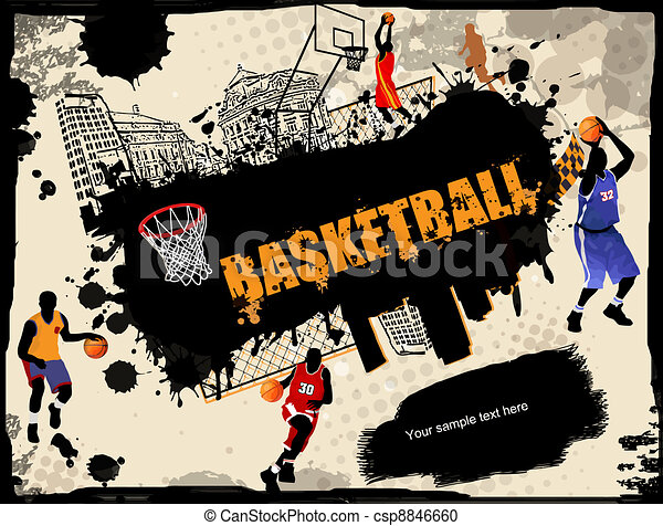 Urban Basketball Background Urban Grunge Basketball Background