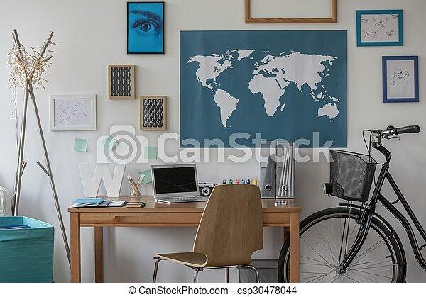 Urban bike in bedroom - csp30478044