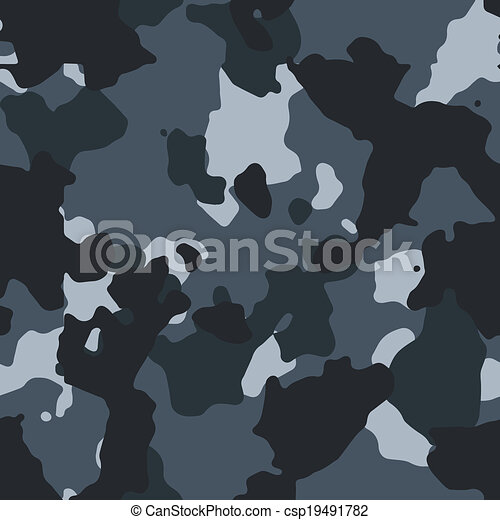 Urban blue seamless camo pattern