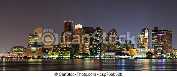 Urban city night scene - csp7668628