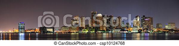 Urban city night scene - csp10124768
