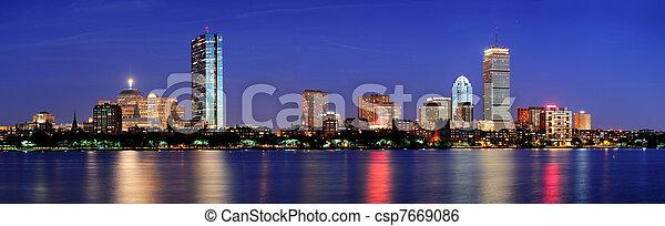 Urban city night scene - csp7669086