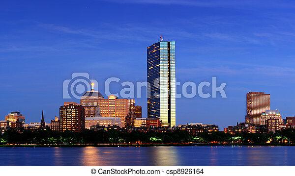 Urban City night scene - csp8926164