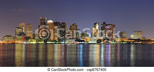 Urban city night scene - csp6767400