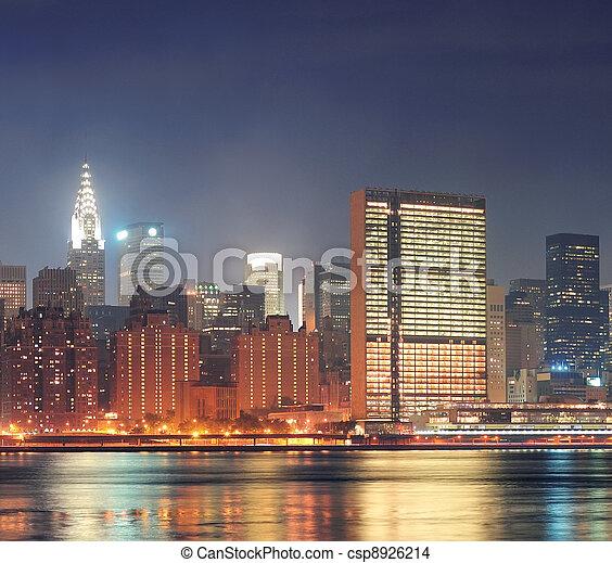 Urban city night view - csp8926214