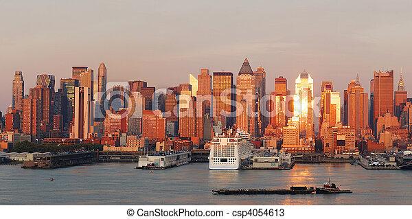 Urban City skyline panorama - csp4054613