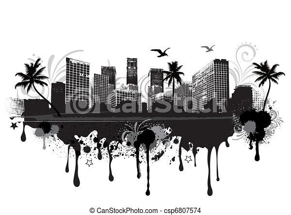 urban cityscape - csp6807574