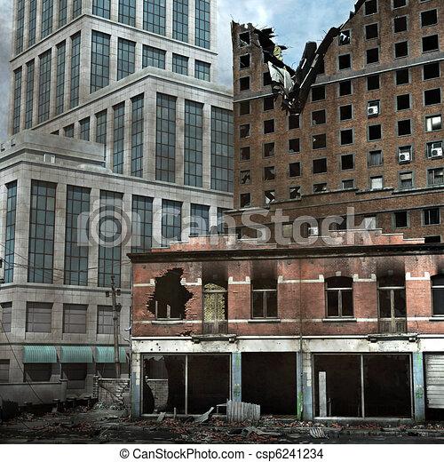 Urban Destruction - csp6241234