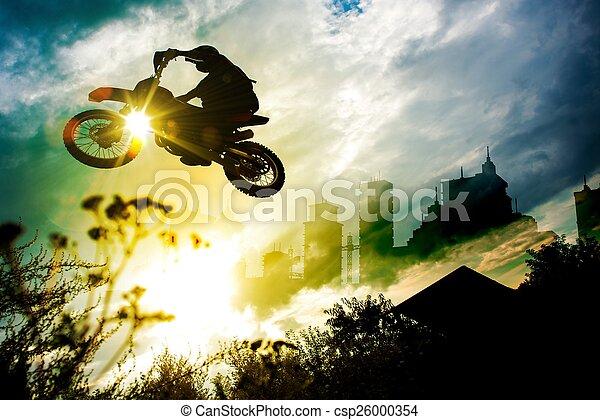 Urban Dirt Bike Jump - csp26000354