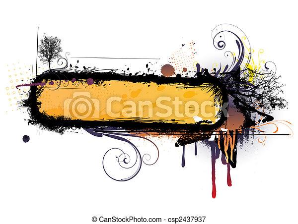 urban floral background - csp2437937
