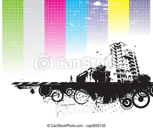 urban grunge city - csp2655135