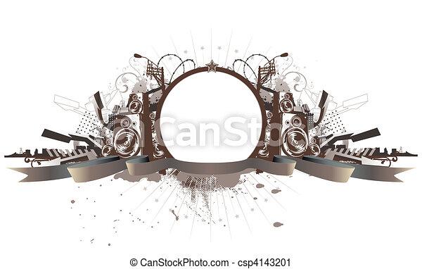 urban grunge frame - csp4143201