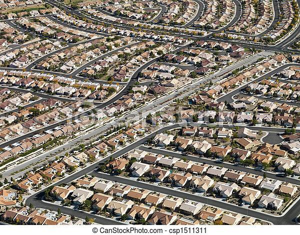Urban housing sprawl. - csp1511311