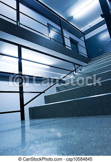 Urban interior (toned in blue) - csp10584845