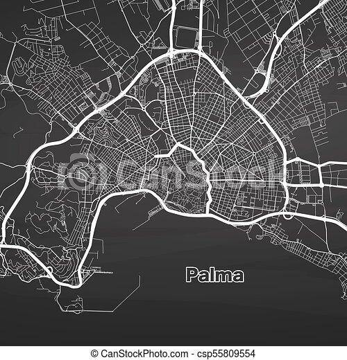 Urban Karta Av Vektor Palma Mallorca Urban Streets Stad