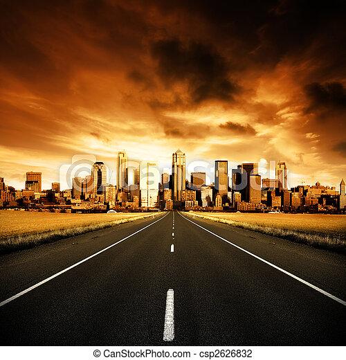 urban, motorväg - csp2626832