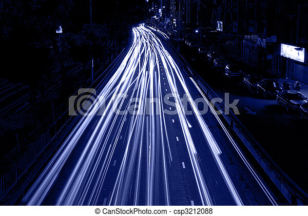 urban night traffic - csp3212088
