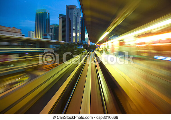 urban night traffic - csp3210666