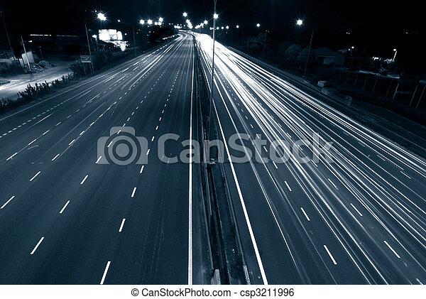 urban night traffic - csp3211996
