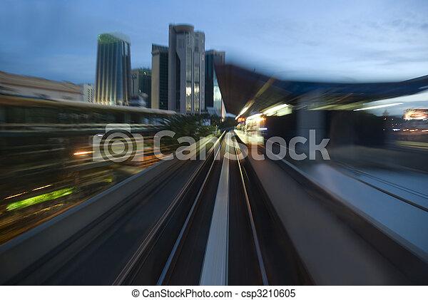 urban night traffic - csp3210605