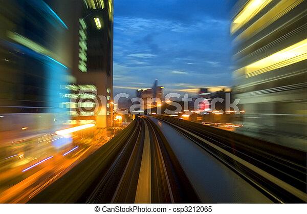 urban night traffic - csp3212065