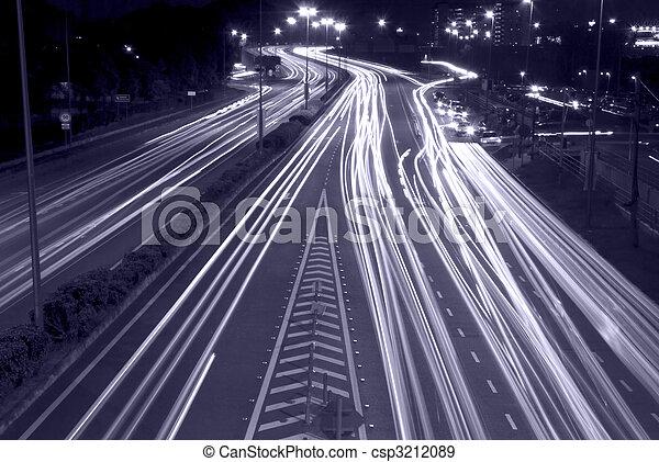 urban night traffic - csp3212089