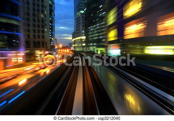 urban night traffic - csp3212040
