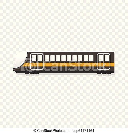 Urban passenger train icon, cartoon style - csp64171164