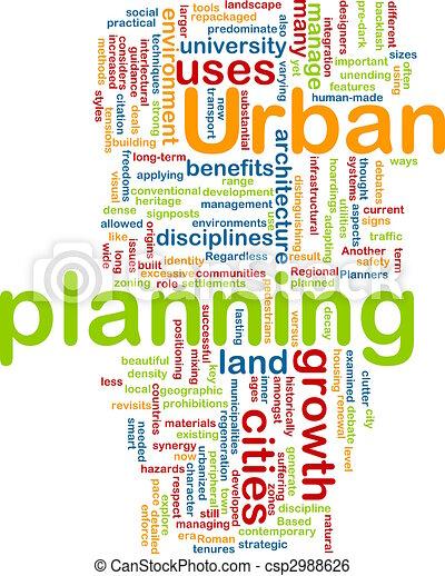 Urban planning background concept - csp2988626
