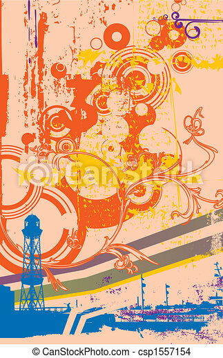 Urban retro abstract background - csp1557154