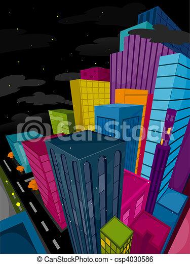 Urban Scene - csp4030586