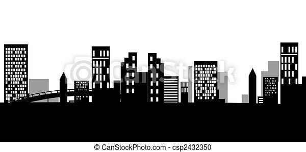 urban silhouette - csp2432350