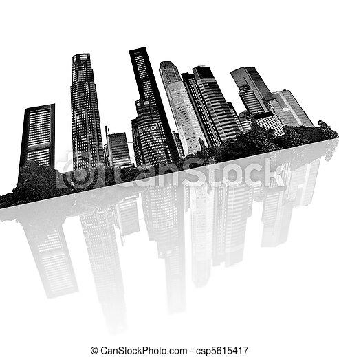 urban skyline - csp5615417
