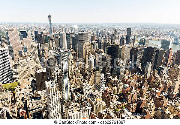urban skyscrapers new york city - csp22761867