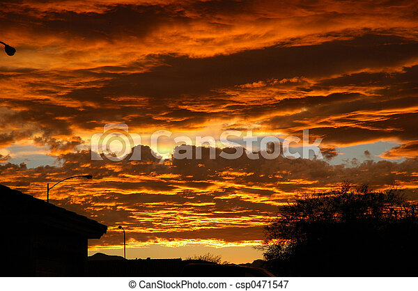 Urban Sunset - csp0471547
