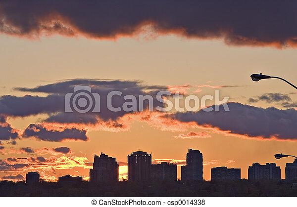 Urban Sunset - csp0014338
