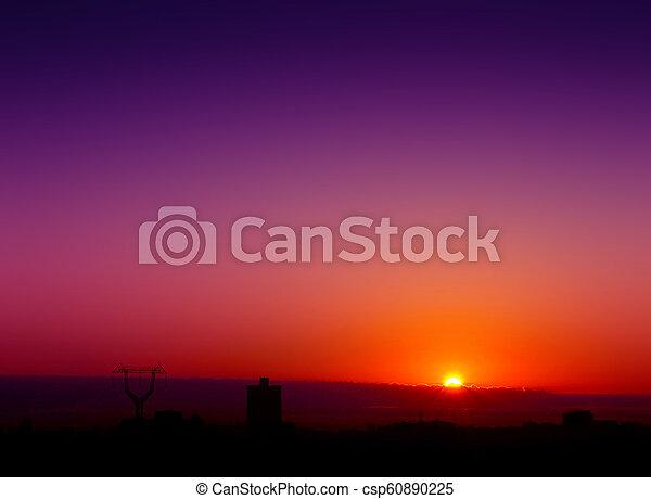 urban sunset - csp60890225