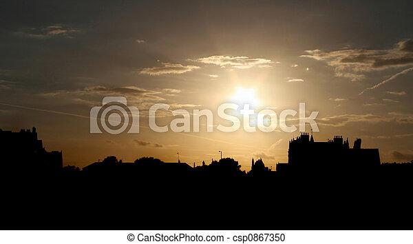 Urban Sunset - csp0867350