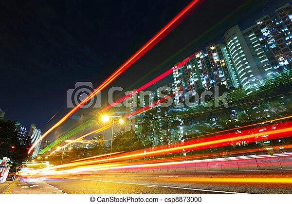 urban traffic at night - csp8873000