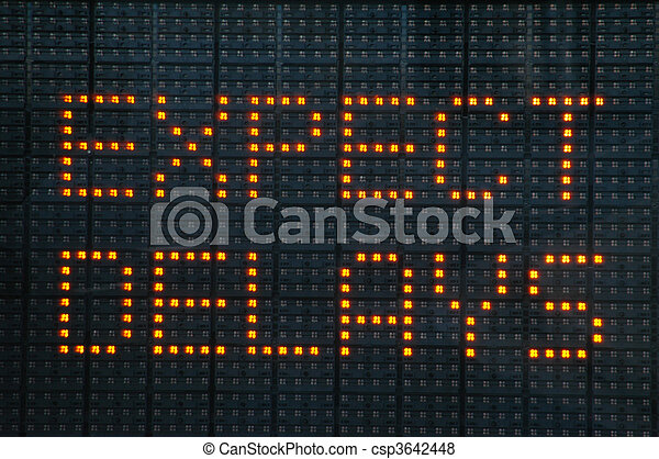 Urban traffic congestion sign saying Expect Delays - csp3642448