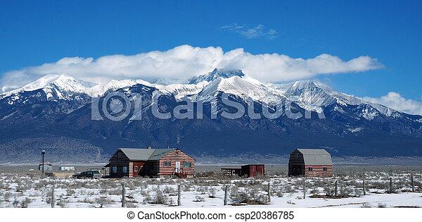 Urban view of Colorado in winter - csp20386785
