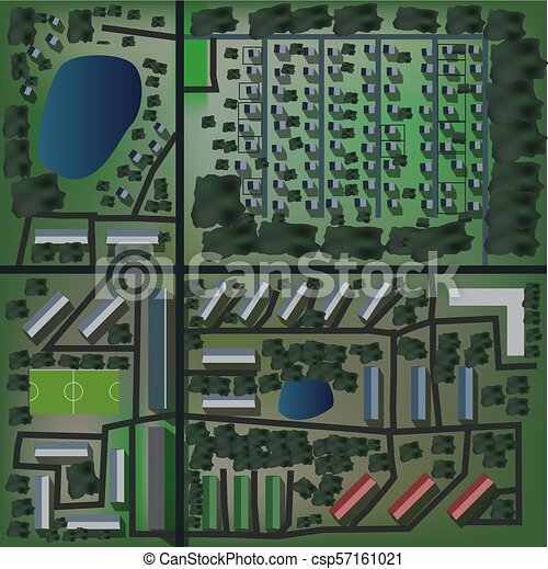 Mapa de vista urbana sin costura - csp57161021